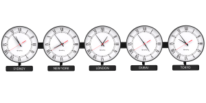 Sapling Round Analog Time Zone Clock - Dial E Hands Standard